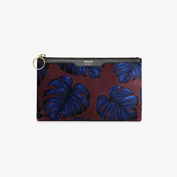 Wouf - Leaves - Velvet pocket clutch