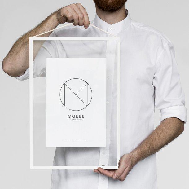 Moebe - Frame - Hvit Aluminiumsramme