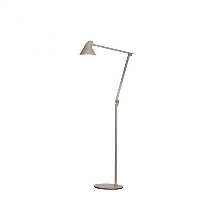 NJP Gulv gulvlampe - Lys alu grå