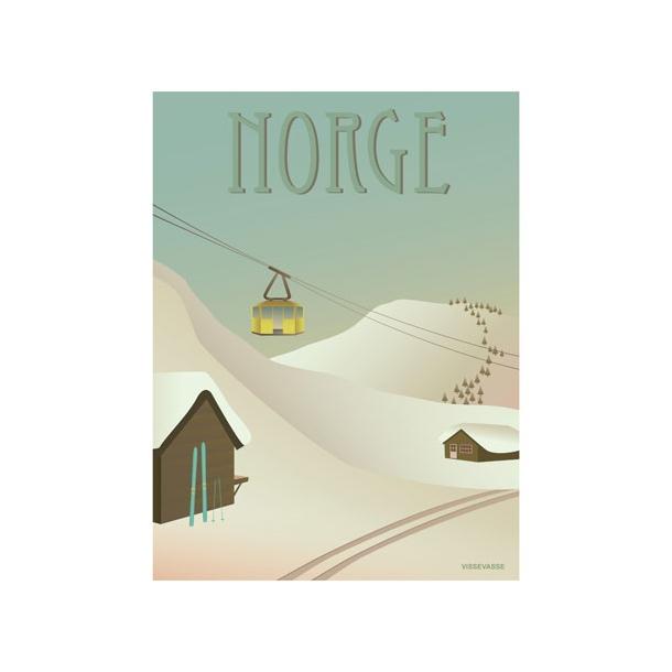VisseVasse - NORGE - Sneen - Plakat