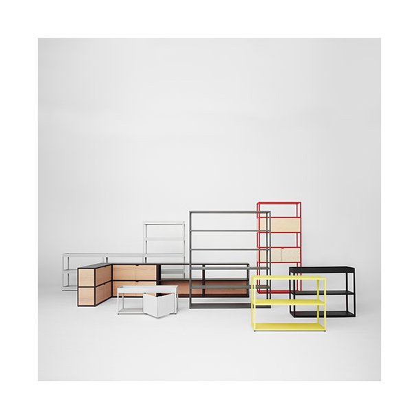 HAY - New Order Reol - Reol med skabe og top bakke - 400 cm