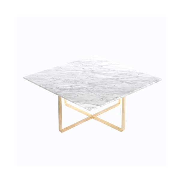 OX Denmarq - Ninety Table - White marble 80x80