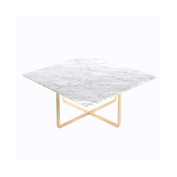 OX Denmarq - Ninety Table 80x80 - Hvid marmorbord
