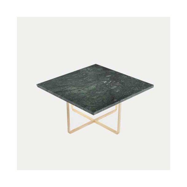 OX Denmarq - Ninety Table 80x80 - Grøn marmorbord