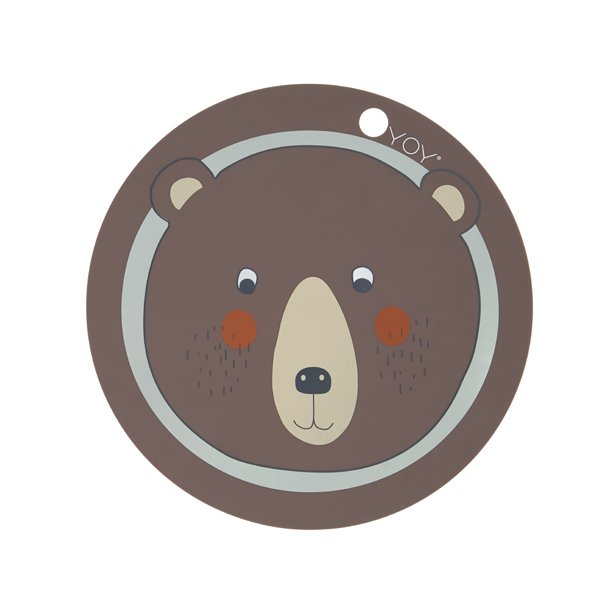 OYOY - Dækkeserviet Bear | Brun