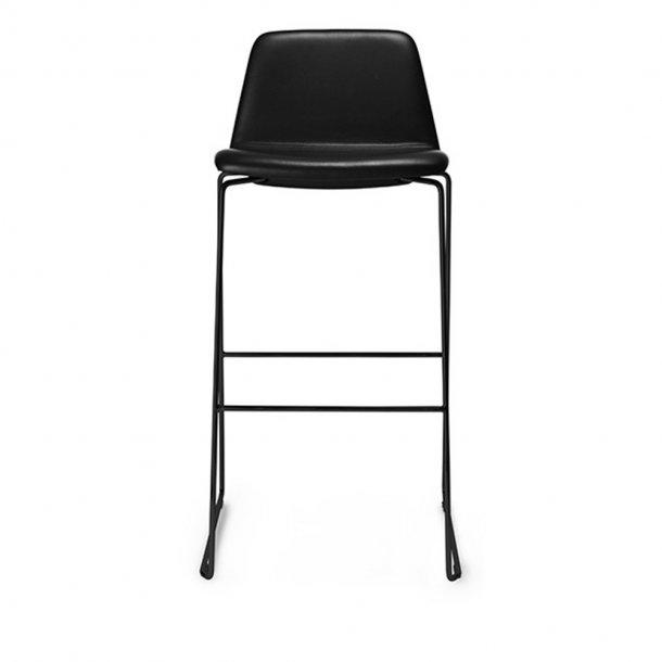 Paustian - Spinal Chair 44, Sled base black, Bar height | Plain, læder