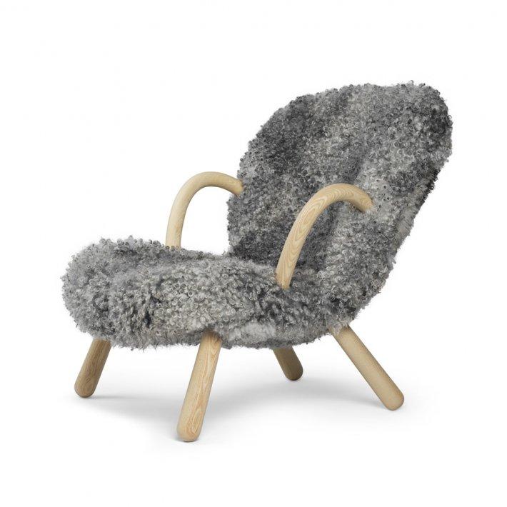 Paustian - Arctander Chair loungestol m. armlæn | Gotand Sheepskin