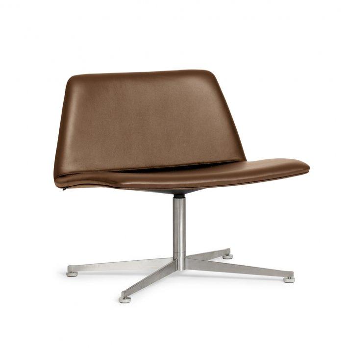 Paustian - Spinal Chair 80, Swivel base chrome | Læder