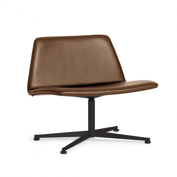 Paustian - Spinal Chair 80, Swivel base black | Læder