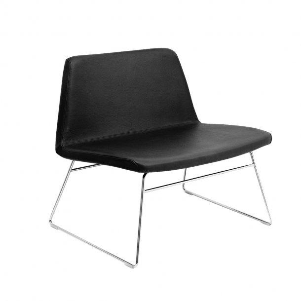 Paustian - Spinal Chair 80, Sled base chrome   Læder