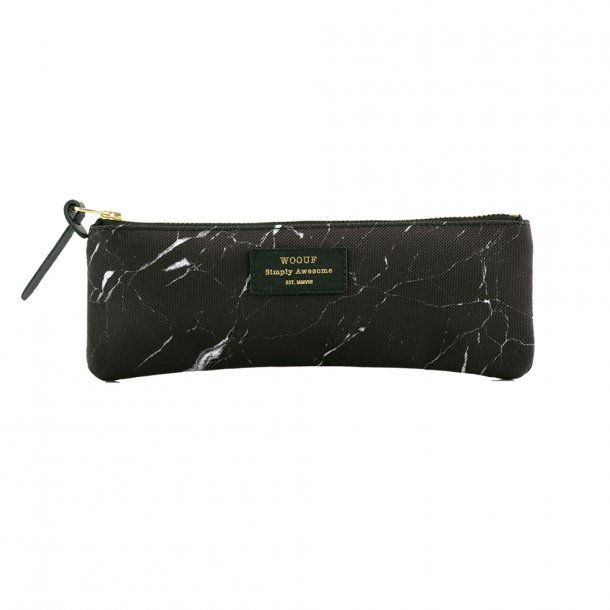 Wouf - Black Marble - Pencil case