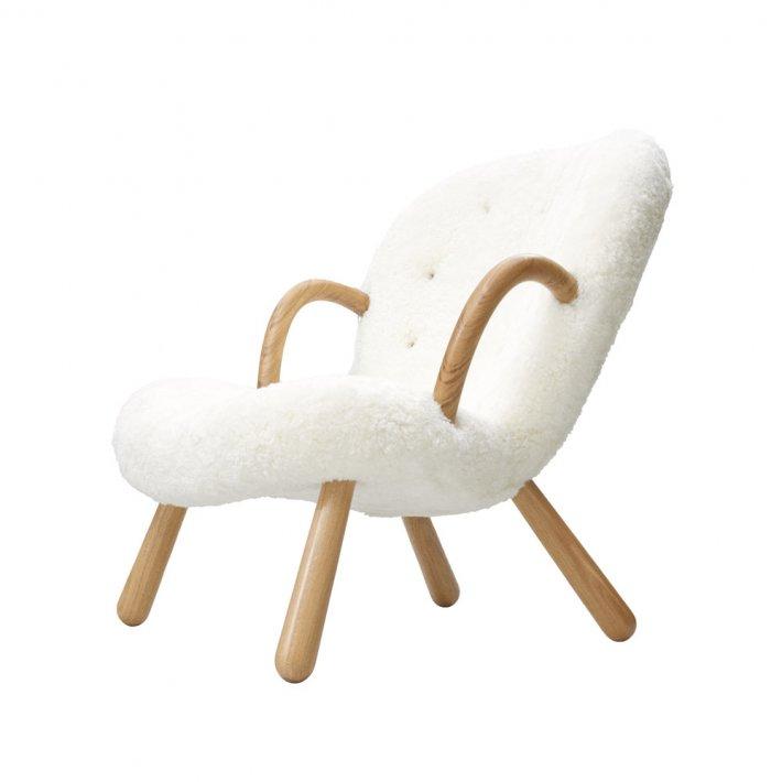 Paustian - Arctander Chair loungestol m. armlæn | Sheepskin