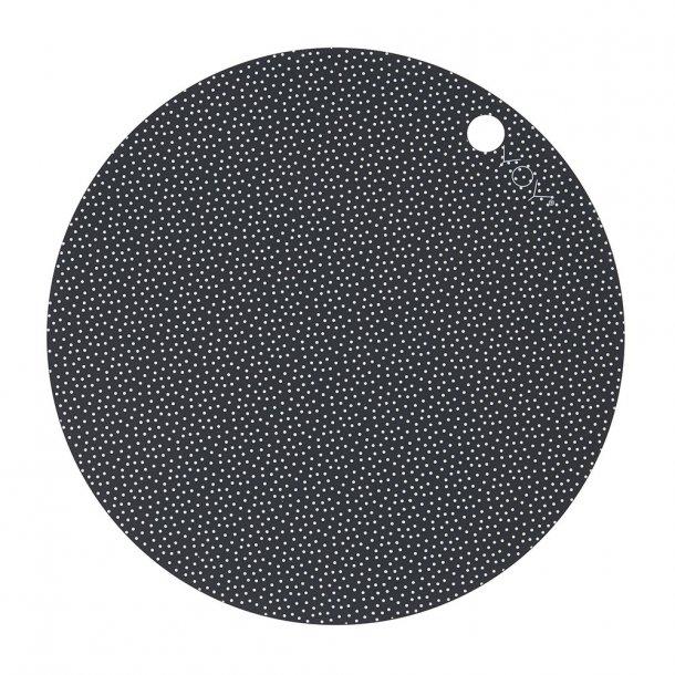 OYOY - Placemat Dot | 2 pcs | Dark grey