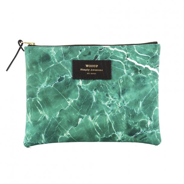 Wouf - Green Marble - Pouch