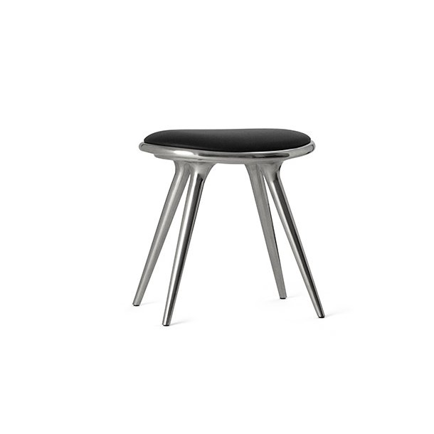 Mater - Low Stool | Polished Aluminum