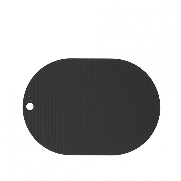OYOY - RIBBO Placemats - Black 2 pcs