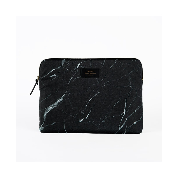 Wouf - Black Marble - Laptop Sleeve - 13''