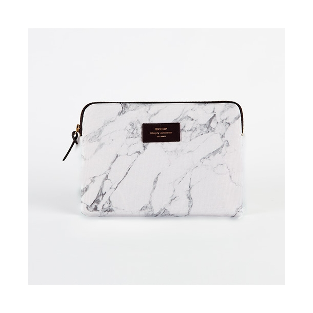 Wouf - White Marble - Laptop Sleeve - 13''