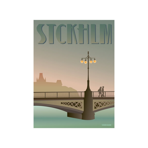 VisseVasse - STCKHLM - Vasabroen - Plakat