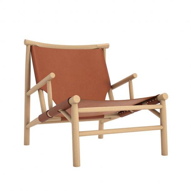 Norr11 - Samurai Chair - Cognac Leather Lænestol - Cognac læder 97147
