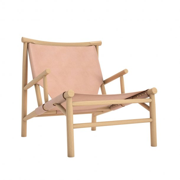 Norr11 - Samurai Chair - Nature Leather Lænestol - Natur læder 97130