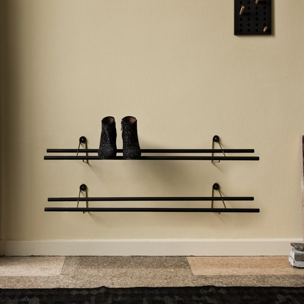 We Do Wood - Shoe Rack Dark - Skohylle