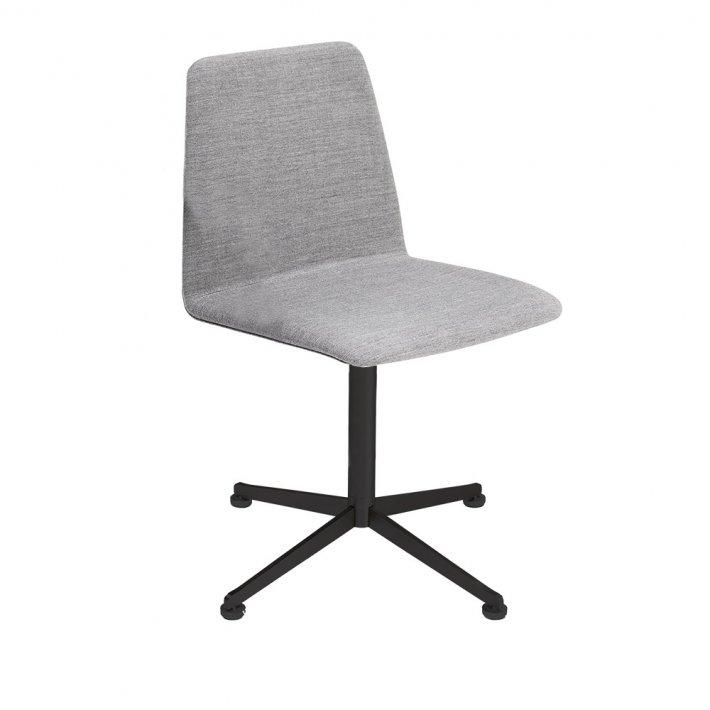Spinal Chair 44, Swivel base black - Plain, Tekstil