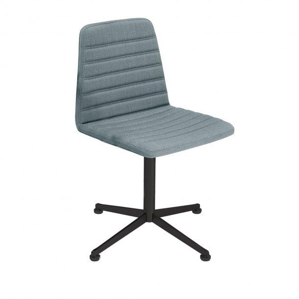 Paustian - Spinal Chair 44, 4-star Swivel black - Chanel stitching, Tekstil