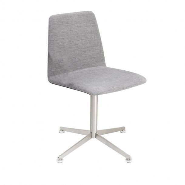 Paustian - Spinal Chair 44, 4-star Swivel chrome - Plain, Tekstil