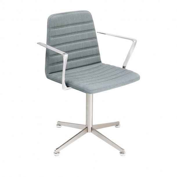 Paustian - Spinal Chair 44, Swivel base chrome | Channel Stitching, Tekstil, Armlæn