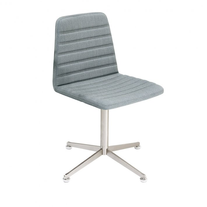 Spinal Chair 44, Swivel base chrome - Chanel stitching, Tekstil