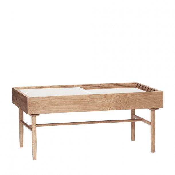 Hübsch - Table, oak, nature/glass