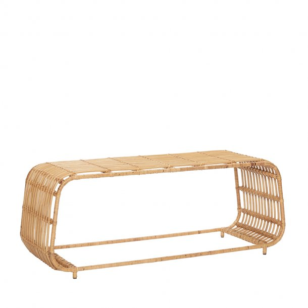 Hübsch - Table, rattan/metal, nature- SOFABORD