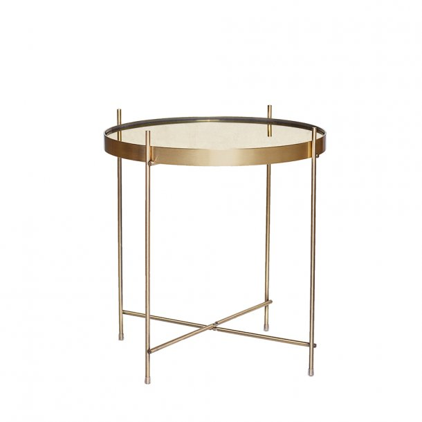 Hübsch - Table, round, metal/mirror