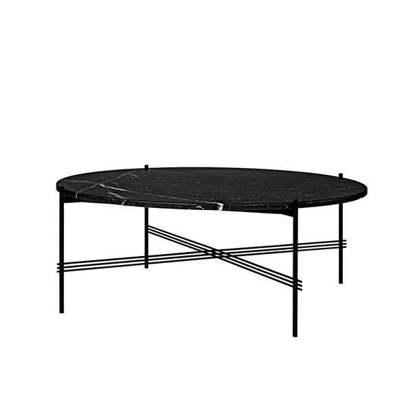 Gubi - TS Table - Sort stel/Marmor - Sofabord Ø105