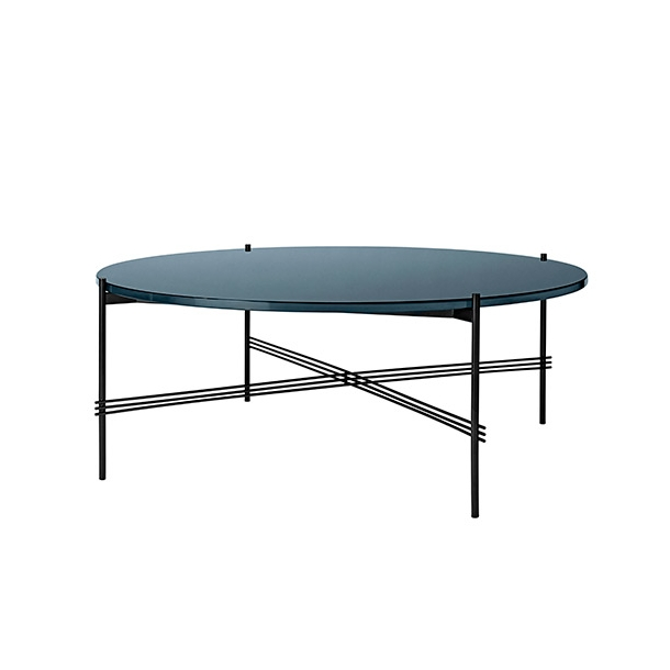 Gubi - TS Table - Sort stel/Glas - Sofabord Ø105