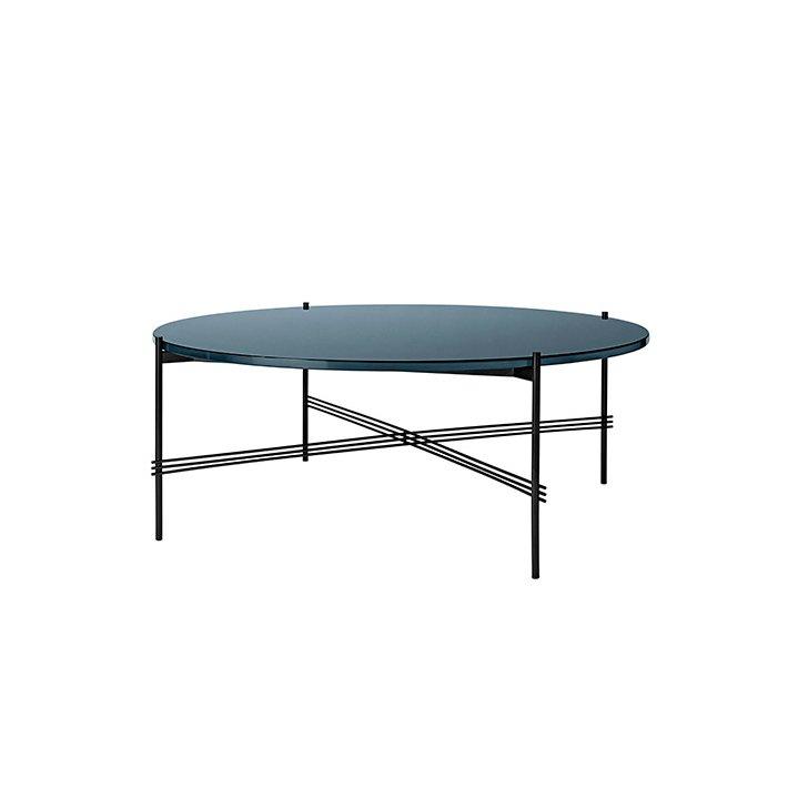 TS Table - Sort stel/Glas - Sofabord Ø105
