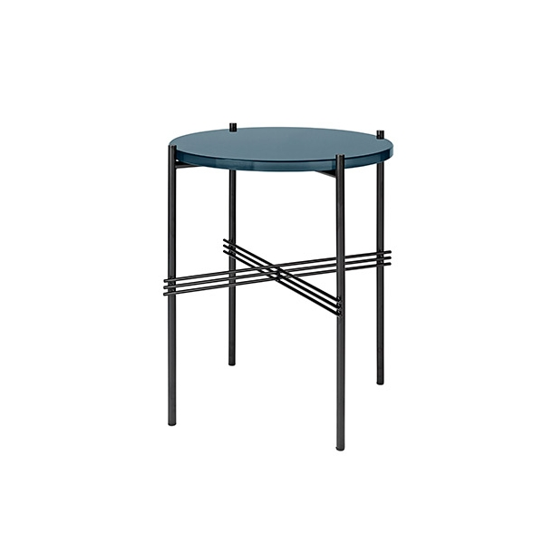 Gubi - TS Table | Sort stel/Glas | Sofabord Ø40
