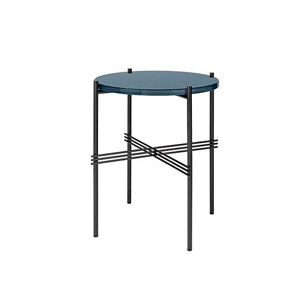 Gubi - TS Table | Sort stel/Glas | Sofabord Ø40