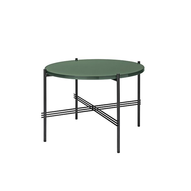 Gubi - TS Table | Sort stel/Glas | Sofabord Ø55