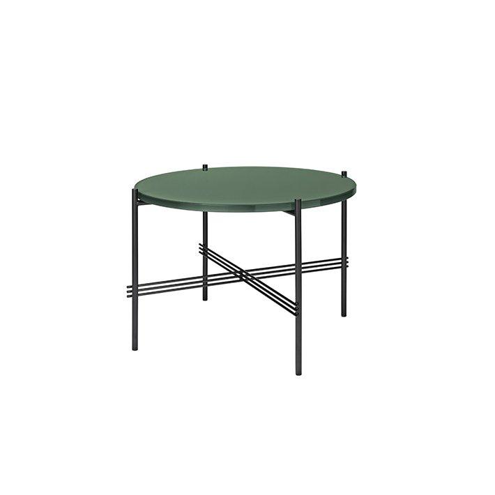TS Table - Sort stel/Glas - Sofabord Ø55