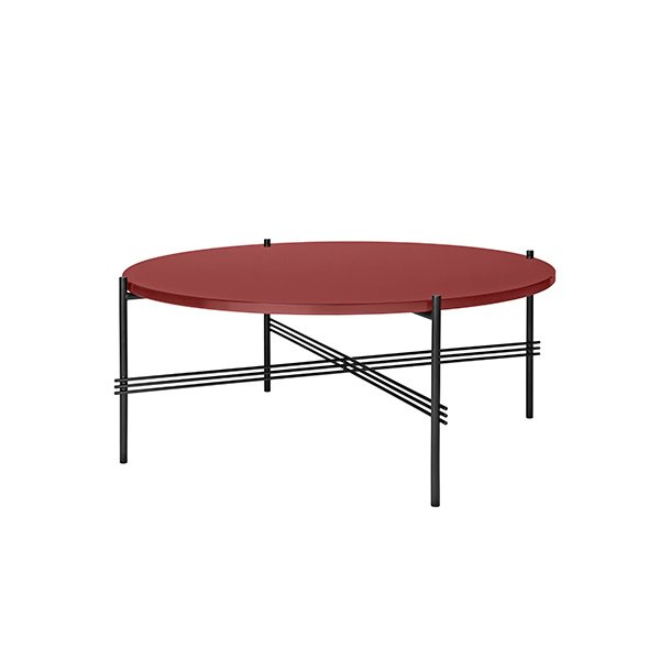 Gubi - TS Table - Sort stel/Glas - Sofabord Ø80