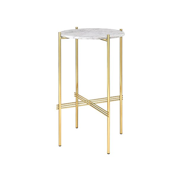Gubi - TS Console Round - Messing/Marmor