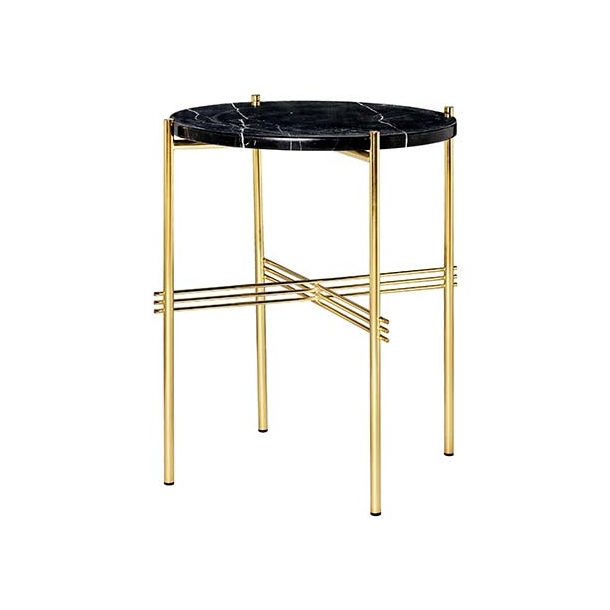 Gubi - TS Table | Messing stel/Marmor | Sofabord Ø40