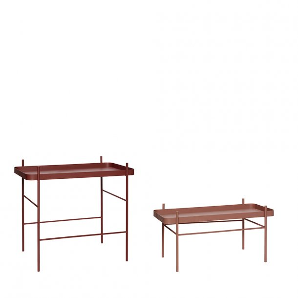 Hübsch - Table, metal, red, 2 pcs.