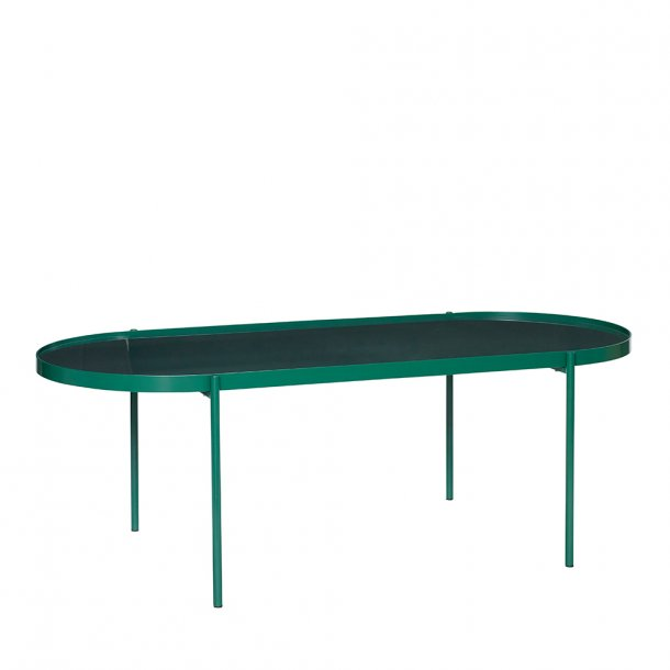 Hübsch - Table, metal/glass, green