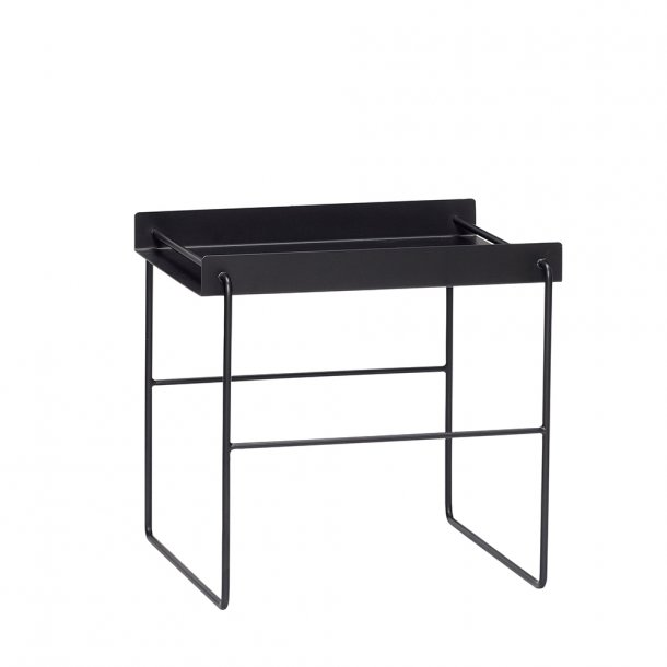 Hübsch - Table, square, black, metal