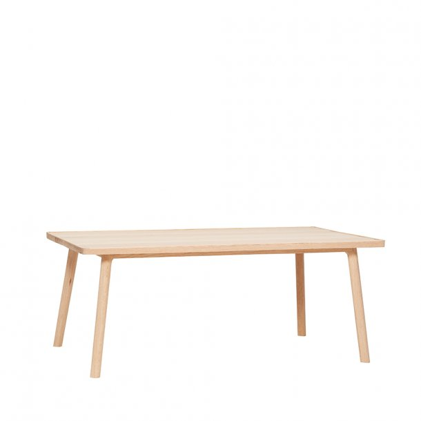 Hübsch - Table w/edge, oak, nature