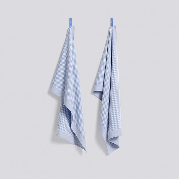 HAY - Tea towel - Check Light Blue - 2 stk