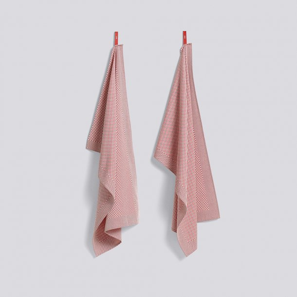 HAY - Tea towel - Check Pink - 2 pcs